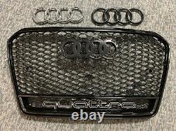 13-17 Audi A5/s5 B8.5 Quattro Rs5 Style Hex Mesh Honeycomb Grille Gloss Black