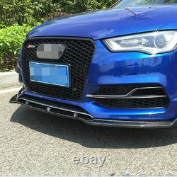 A3 Front Grill Mesh Grille for Audi A3 8V S3 Sline 2014-2016 To RS3 Style Black