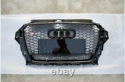 A3 Front Grill Mesh Grille for Audi A3 Sline S3 2014-2016 To RS3 Full Black