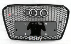A5 Front Grill Mesh Grille for Audi A5 B8.5 S5 Sline 2012-15 To RS5 Style Black