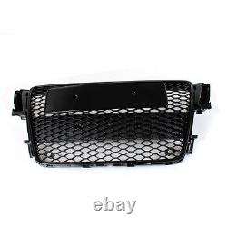 A5 Front Grill Mesh Grille for Audi A5 S5 Sline RS5 2008-2011 To RS5 Style Black