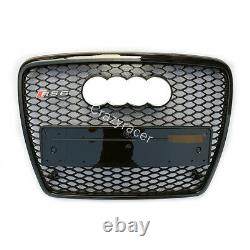 A6 C6 Grille Black Front Mesh Grill for Audi A6 C6 Sline S6 2005-11 To RS6 Style