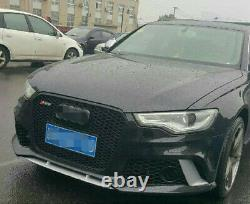 A6 Front Grill Mesh Grille for Audi A6 C7 S6 2012-2015 To RS6 Style Full Black
