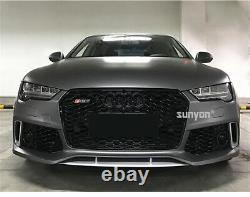 A7 Front Mesh Grille Grill for Audi A7 C7.5 & S7 2016-18 To RS7 Style Full Black
