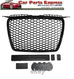 AUDI A3 20042008 Front Grille RS Style Black With Gloss Black Surround NEW