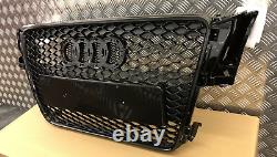 AUDI A5 8T Front Grill RS Honeycomb Gloss Black Front Bumper RS5 S5 S 2008-2012