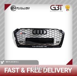 AUDI A5 RS5 QUATTRO FRONT GRILL 2016+ HONEY MESH GRILL GLOSS BLACK A5 to RS5