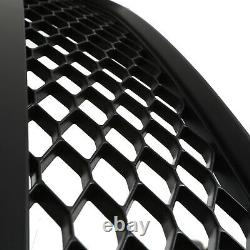 Abs Honeycomb Mesh Black Badgeless Debadged Grill Grille For Audi Tt 8j 07-14
