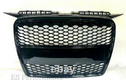 Audi A3 8P Grille 2005-8 Debadged Black Gloss Front Grille Upgrade RS3 Style