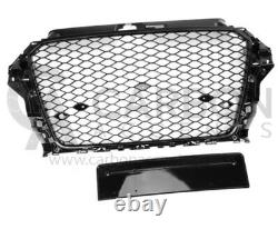 Audi A3 8V Front Grill RS Honeycomb Gloss Black Front Bumper RS3 S3 S 2013-2016