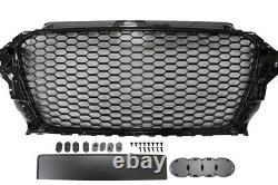 Audi A3 8V RS3 S line S3 tuning 2012- Frontgrill Kühlergrill Wabengrill SCHWARZ