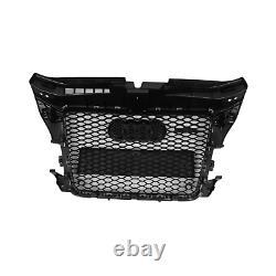 Audi A3 8p 2008-13 Front Grill Rs3 Style All Black Grille Grill Rs3 S3 A3 Gb58