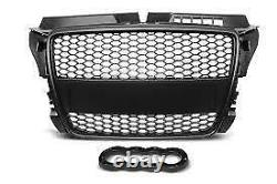 Audi A3 8p Facelift 2008 2013 S3 Mesh Rs3 Look Gloss Black Honeycomb Grille