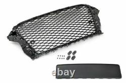 Audi A3 8v 20122016 Rs Style Gloss Black Honeycomb Debadged Grille New
