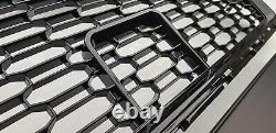 Audi A3 8v 20162019 Rs Style Gloss Black Honeycomb Mesh Bumper Grille New
