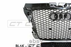 Audi A3 S3 8p 2008-2012 All Black Honeycomb Grille- Blak By Ct Carbon