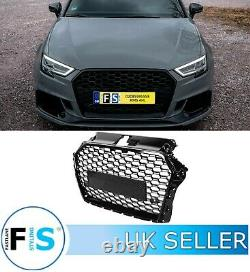 Audi A3/s3 8v Facelift Rs3 Style Honeycomb Mesh Front Grille Gloss Black 2017+
