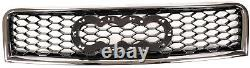 Audi A4 B6 8e 2000-2004 Rs Style Chrome Black Honeycomb Radiator Hood Grille