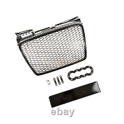 Audi A4 B7 2004-2007 Rs Rs4 Style Grille Gloss Black Honeycomb Radiator Bumper