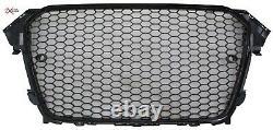 Audi A4 B8.5 Model 2012-2015 Gloss Black Honeycomb Mesh Debadged Badgeless Grill