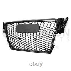 Audi A4 B8 Front Grill RS Honeycomb Gloss Black Front Bumper RS4 S4 S 2008-2012