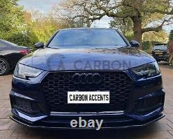 Audi A4 B9 Front Grill RS Honeycomb with Quattro Gloss Black Front Bumper 2017+