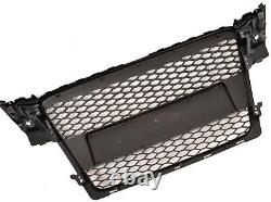 Audi A4 S4 B8 2008-2012 Rs Style Gloss Black Honeycomb Radiator Bumper Grille
