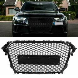 Audi A4 S4 B8 8k 2012-2016 Facelift Rs Style Grille Gloss Black Honeycomb Bumper