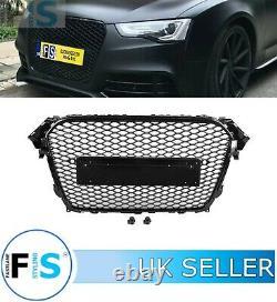 Audi A4 S4 B8 Rs4 Style Honeycomb Mesh Front Bumper Centre Grille 12-15 100% Fit