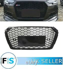 Audi A4 S4 B9 Rs4 Style Honeycomb Mesh Front Bumper Centre Grille 17-19 100% Fit