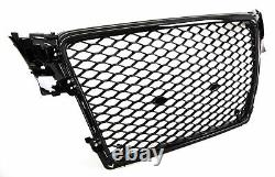 Audi A5 2013-2015 Front Main Grille Gloss Black Honeycomb RS5 Look New