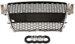 Audi A5 S5 8t 2007-2011 Rs Style Chrome Black Honeycomb Radiator Bumper Grille