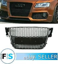 Audi A5 S5 8t Rs5 Style Honeycomb Mesh Front Bumper Centre Grille 08-12 100% Fit