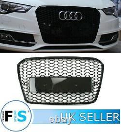 Audi A5 S5 8t Rs5 Style Honeycomb Mesh Front Bumper Centre Grille 12-16 100% Fit