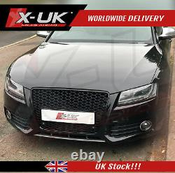 Audi A5 S5 to RS5 style gloss black honeycomb mesh grill 2007-2012
