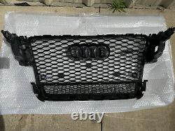 Audi A5/s5 B8 8t 2008-2012 Black Rs5 Style Front Honeycomb Mesh Quattro Grille