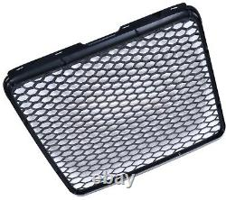 Audi A6 4f 2008-2011 Rs Rs6 Style Gloss Black Honeycomb Radiator Bumper Grille