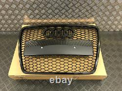 Audi A6 C6 Rs Rs6 Style Gloss Black Honeycomb Radiator Bumper Grille 2005-2011