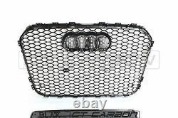 Audi A6 S6 2012-2015 C7 All Black Honeycomb Grille Blak By Ct Carbon