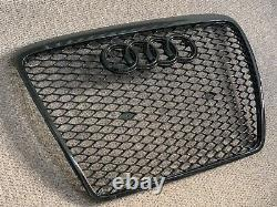 Audi A6 S6 RS6 Style Gloss Black Honeycomb Grille 04 11 C6 Model