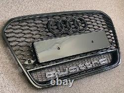 Audi A6 S6 RS6 Style Gloss Black Honeycomb Grille 11 14 C7 Model