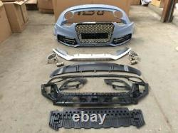 Audi RS5 BodyKit For A5 S5 Conversion 2012+ Facelift Front Bumper Grill Diffuser