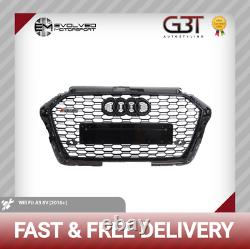 Audi Rs3 Style Front Grille All Gloss Black Quattro A3/s3 To Rs3 Look 8v 2016