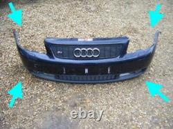 Audi S3 2003 8l Complete Front Bumper Grilles Washer Jet Covers Badge Ultra Rare