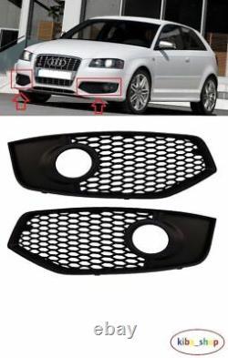 Audi S3 2006 2009 Front Bumper Fog Light Lamp Grill Grille Left + Right