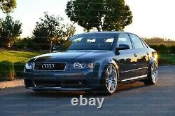 Audi S4 A4 B6 S Line LOWER FRONT SPOILER lip valance euro bumper + Grills S-Line