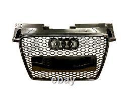 Audi TT TTS MK2 Front Grill RS Honeycomb Gloss Black 2006-2014