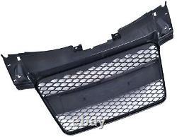 Audi Tt 8j 2006-2014 Rs Style Gloss Black Honeycomb Radiator Bumper Grille