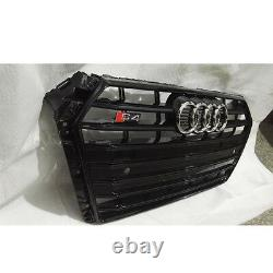 B9 A4 Front Bumper Grille Grill for Audi A4 B9 & S4 Saloon 17+ To S4 Style Black