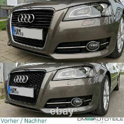 Badgeless Front Grille Grill Honeycomb Black Gloss fits Audi A3 8P 08-13 RS3 Mod